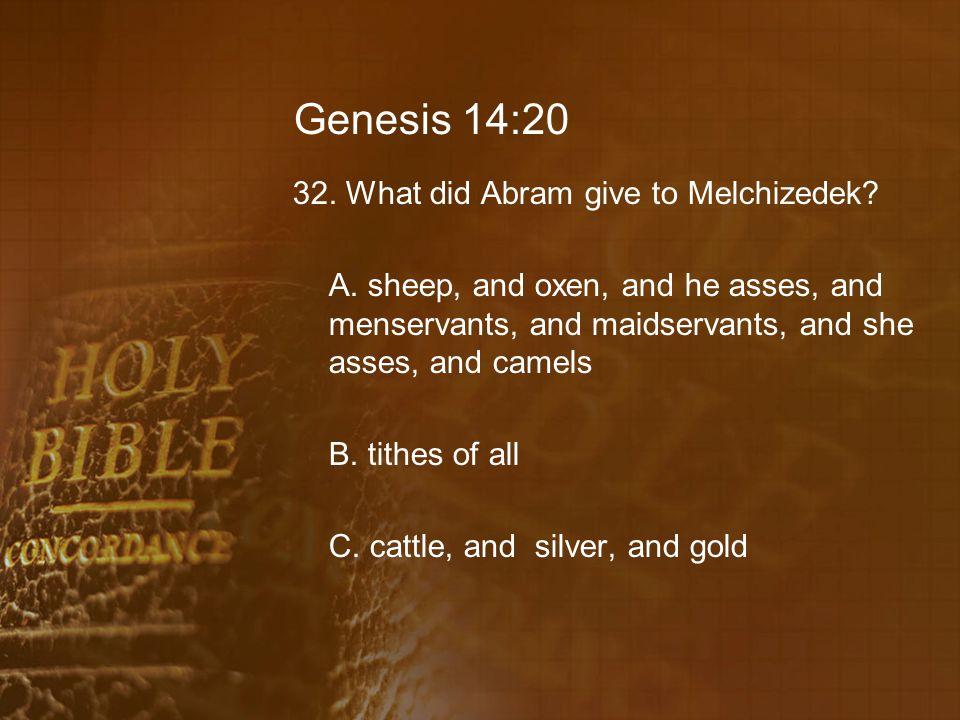 Genesis 14:20