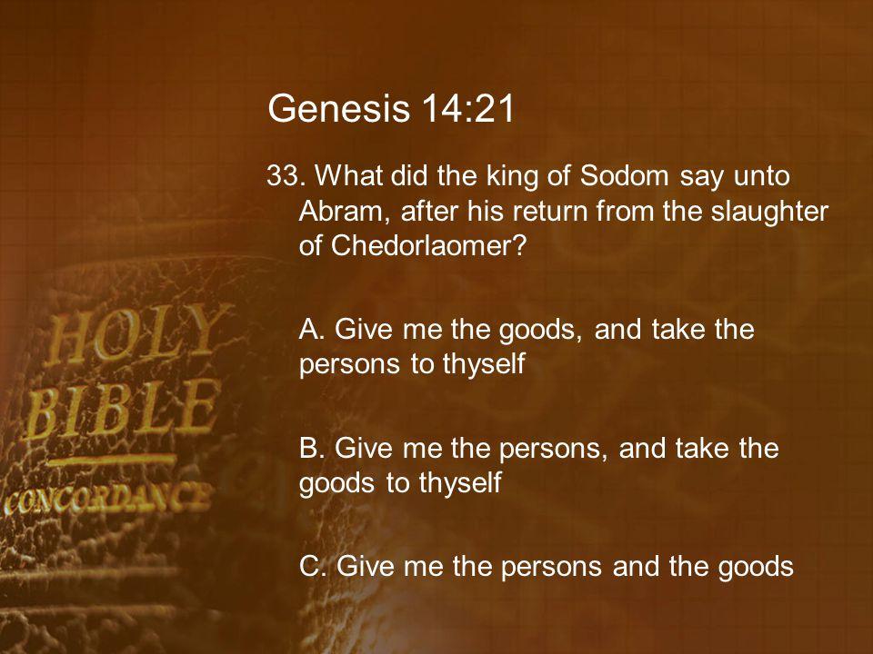Genesis 14:21