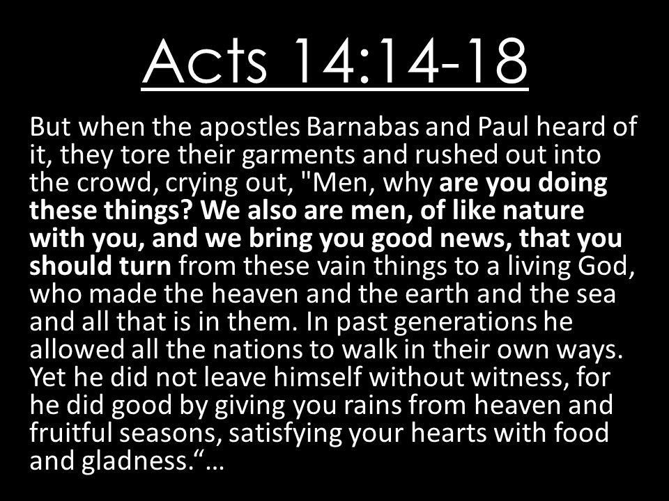 Acts 14:14-18