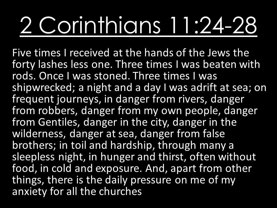 2 Corinthians 11:24-28