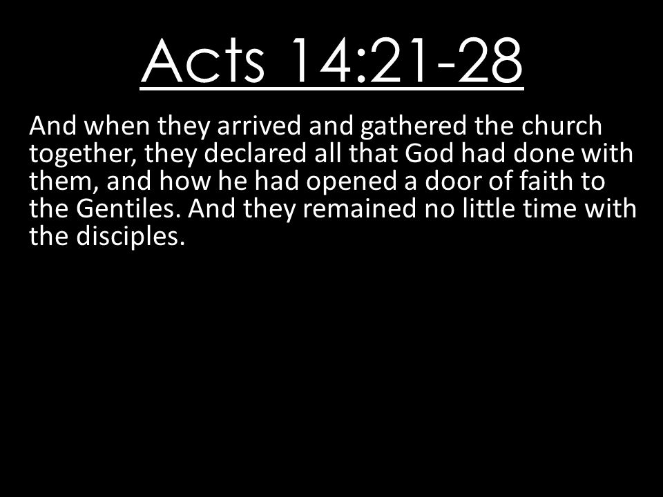 Acts 14:21-28