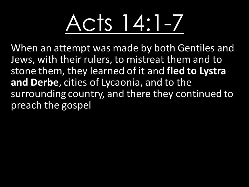 Acts 14:1-7