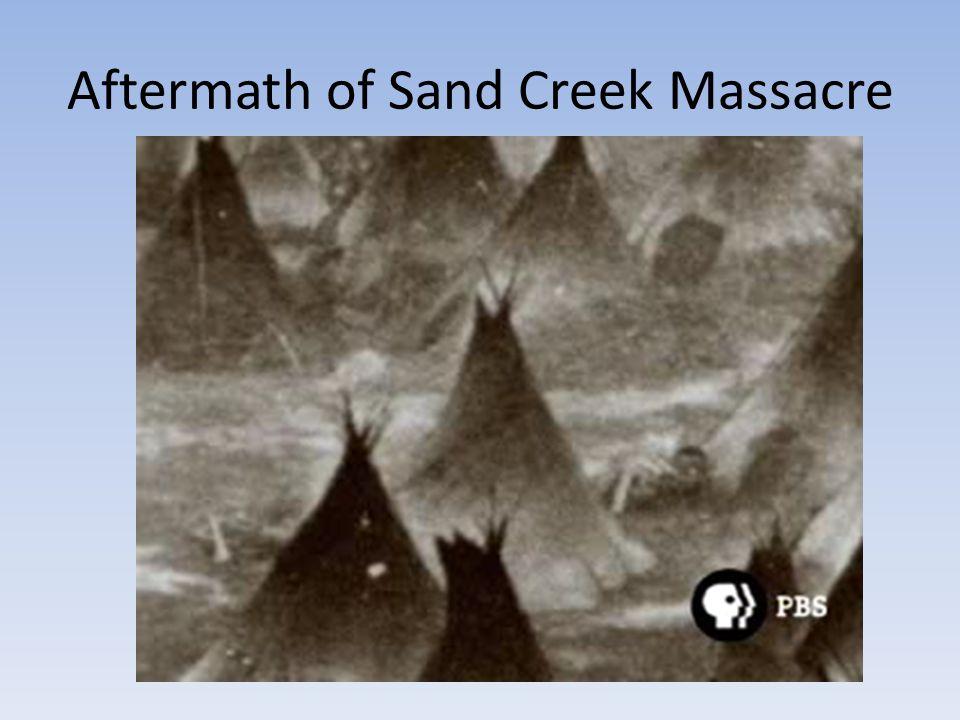 Aftermath of Sand Creek Massacre