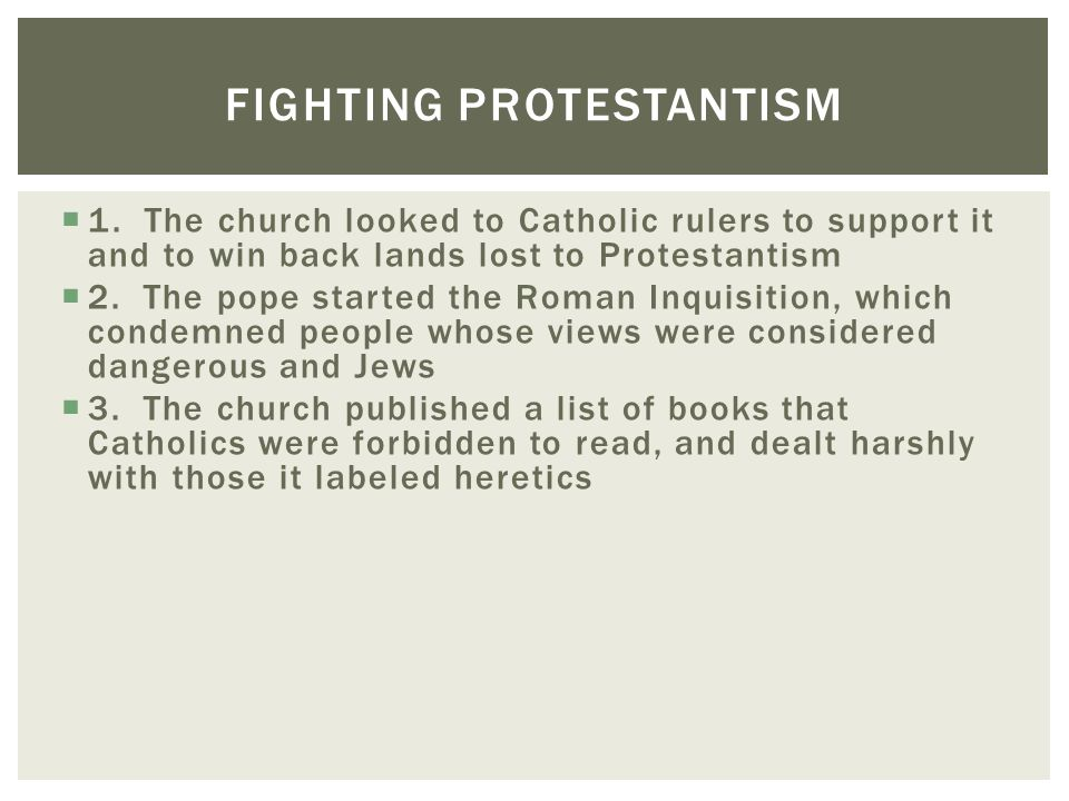 Fighting Protestantism
