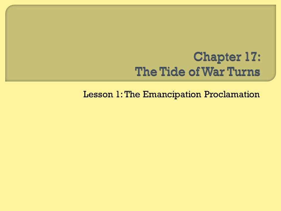 Chapter 17: The Tide of War Turns