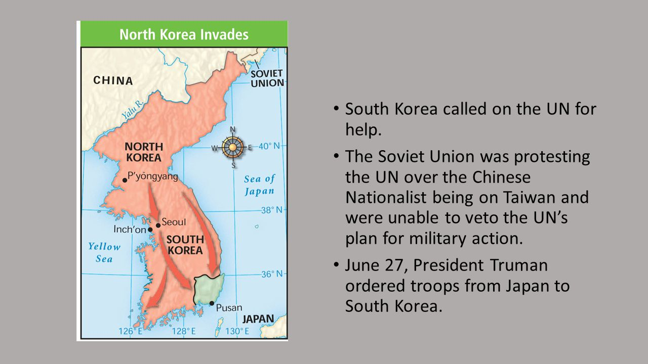 South Korea called on the UN for help.