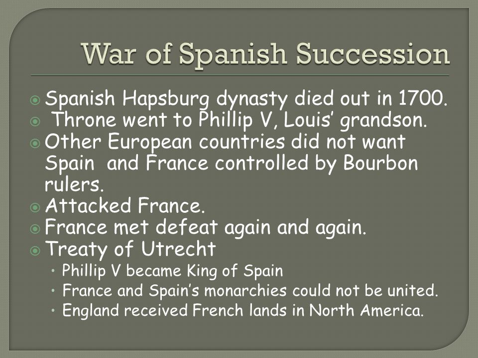 War of Spanish Succession