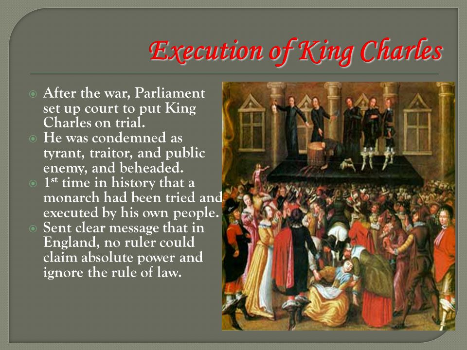 Execution of King Charles