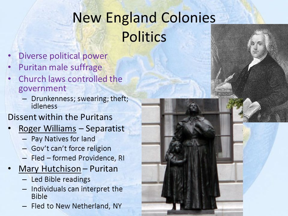 New England Colonies Politics