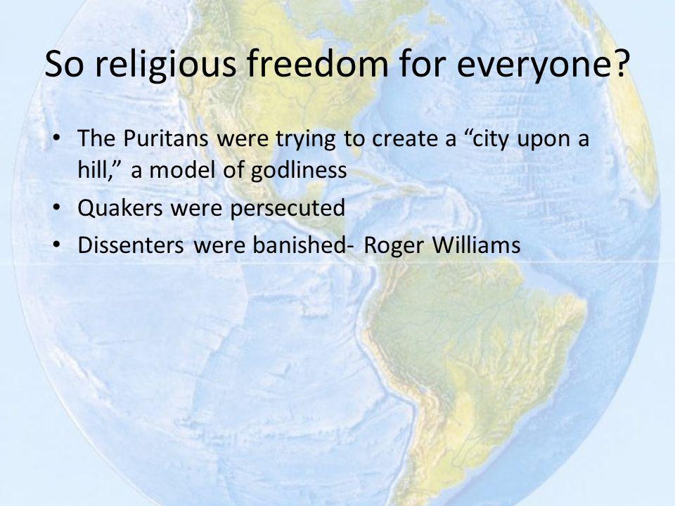 So religious freedom for everyone