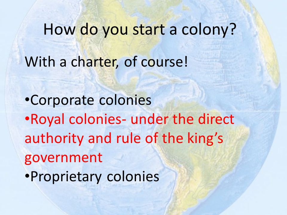 How do you start a colony