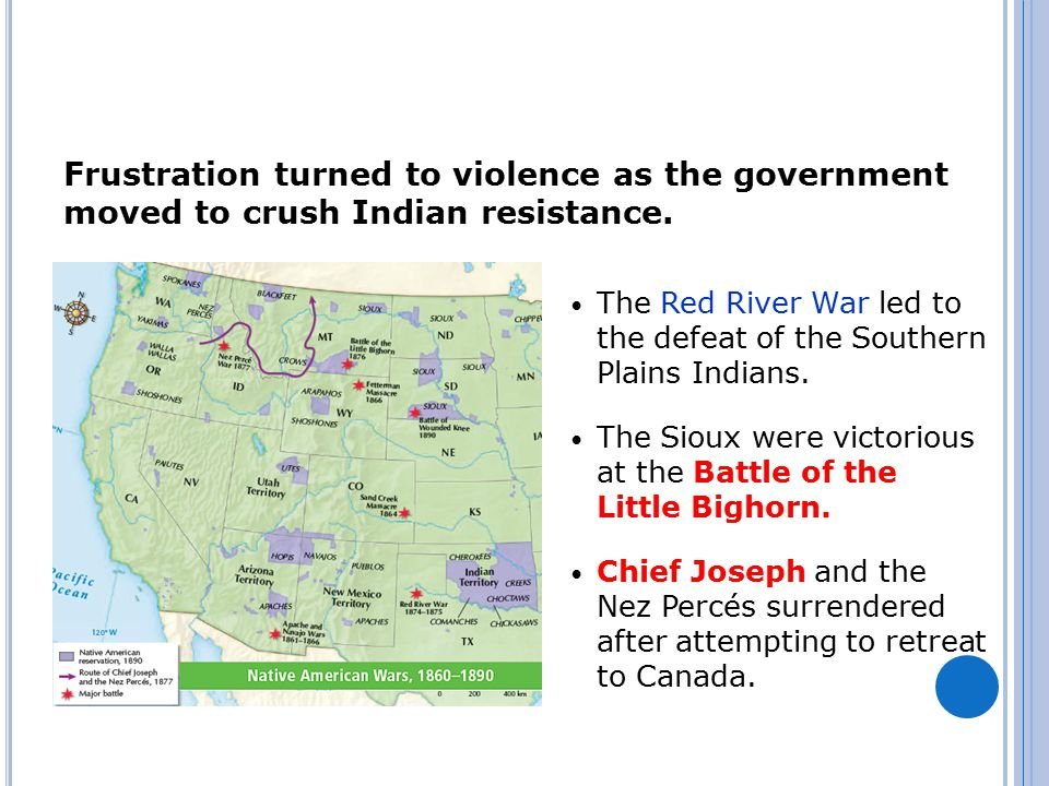 Frustration turned to violence as the government moved to crush Indian resistance.