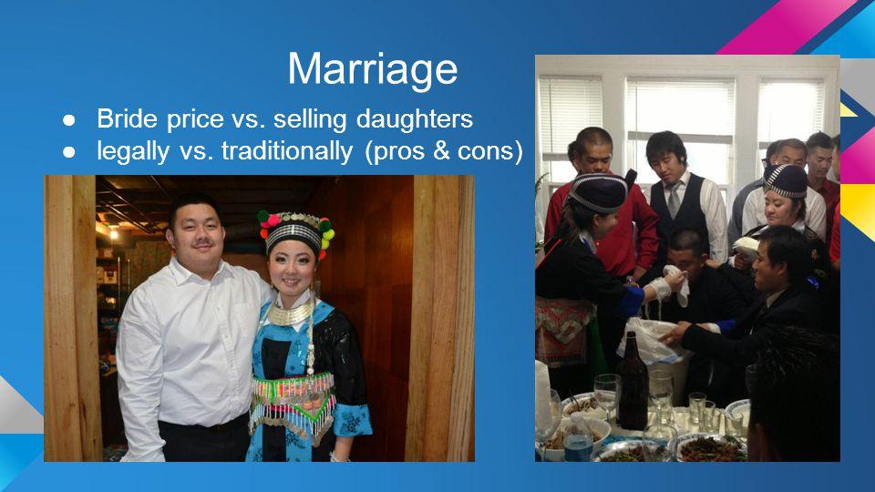 Marriage Bride price vs. selling daughters