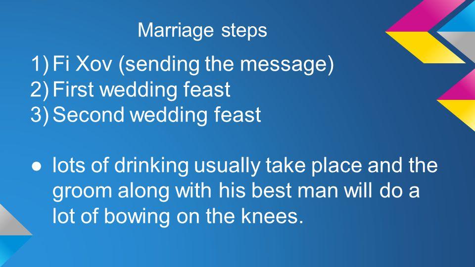 Fi Xov (sending the message) First wedding feast Second wedding feast