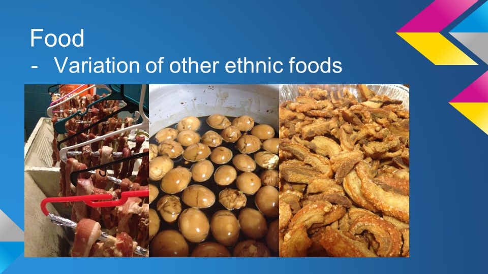 Food Variation of other ethnic foods