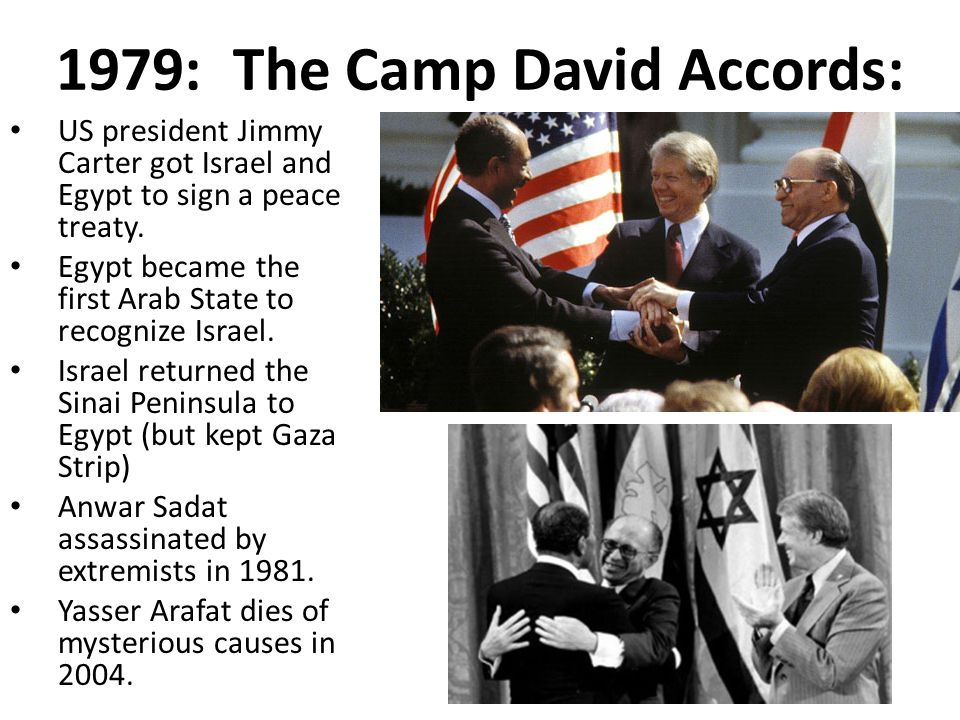 1979: The Camp David Accords:
