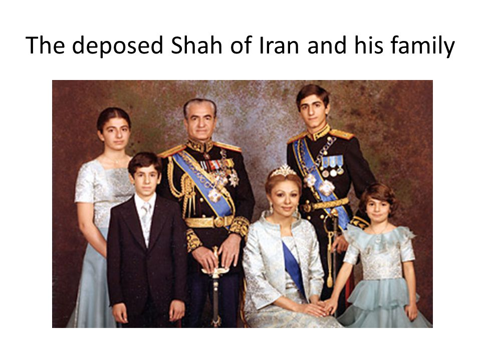 The deposed Shah of Iran and his family