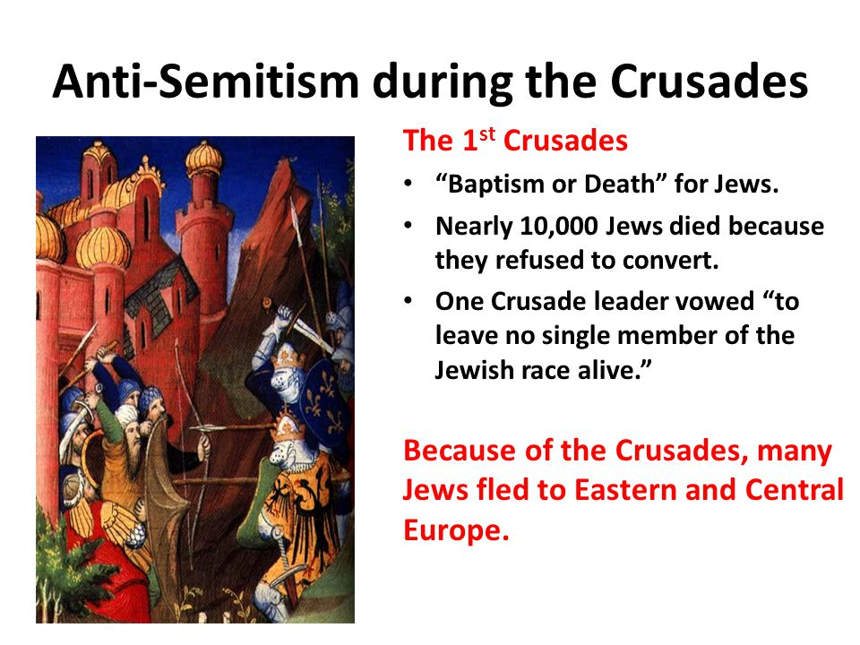 Anti-Semitism during the Crusades