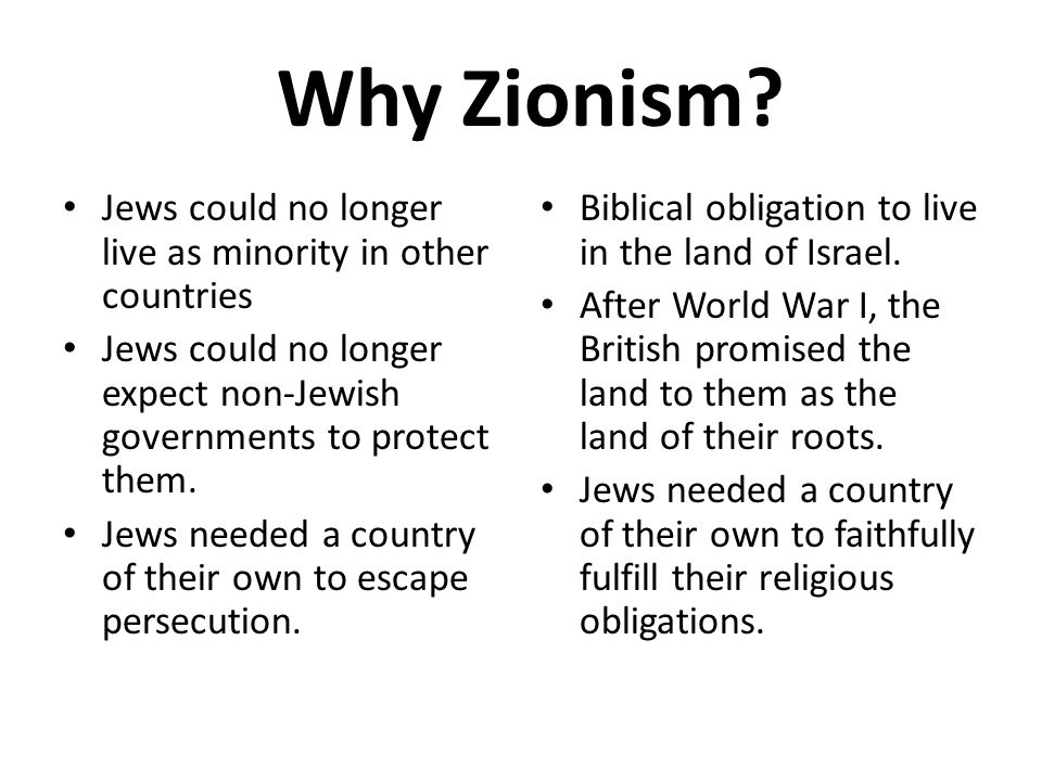 Why Zionism Jews could no longer live as minority in other countries