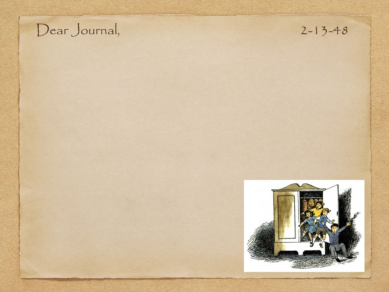 Dear Journal, 2-13-48