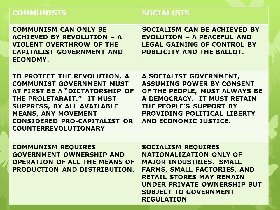 COMMUNISTS SOCIALISTS
