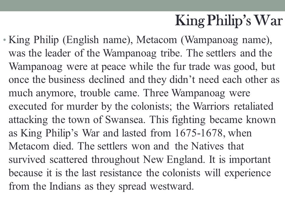 King Philip's War