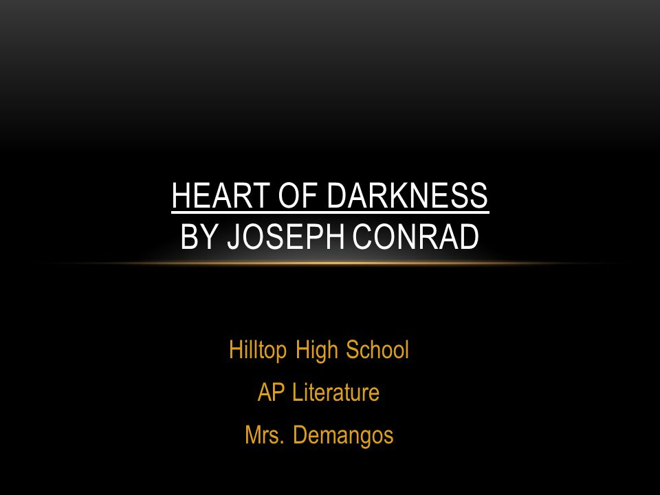 Darkness In Heart Of Darkness