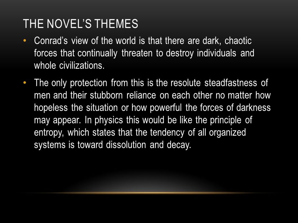 THE NOVEL'S THEMES