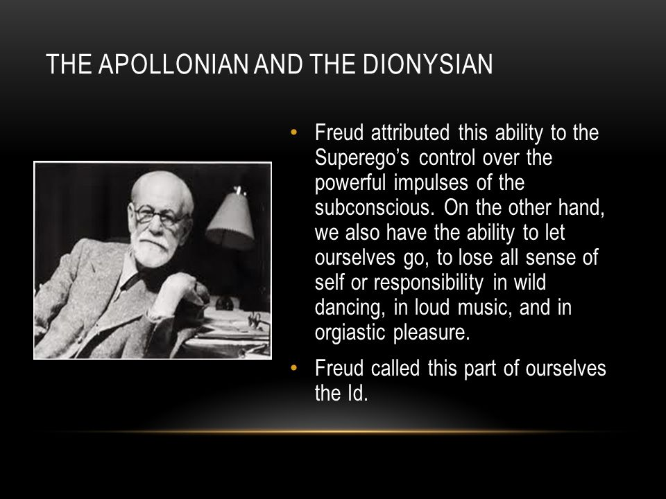 apollonian and dionysian The difference between apollonian and dionysian music is basically what it targets in man apollonian music targets the spirit of man — the mind, the affections, and the will.