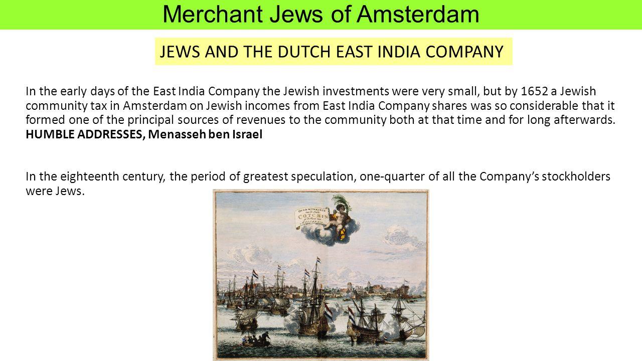 Merchant Jews of Amsterdam