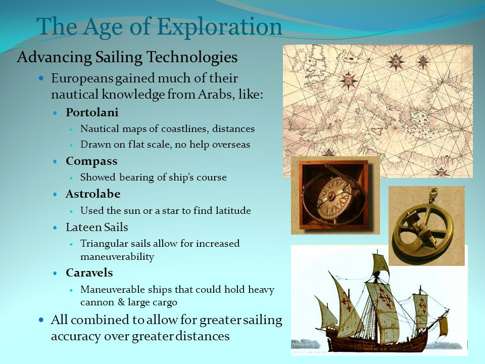 The Age of Exploration Advancing Sailing Technologies
