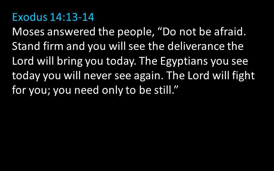 Exodus 14:13-14