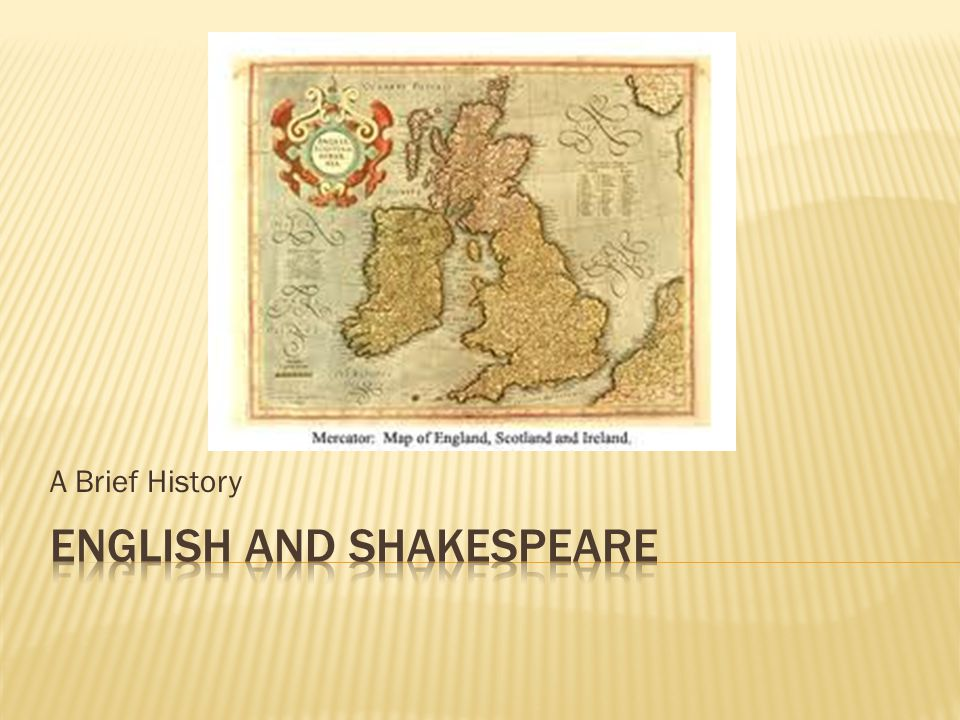 English and Shakespeare