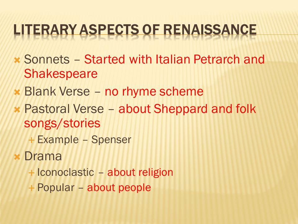 Literary Aspects of Renaissance