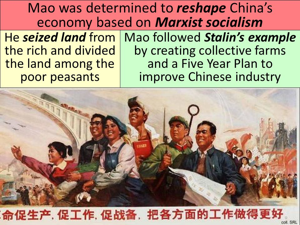 Mao was determined to reshape China's economy based on Marxist socialism
