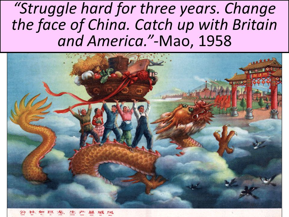 Struggle hard for three years. Change the face of China