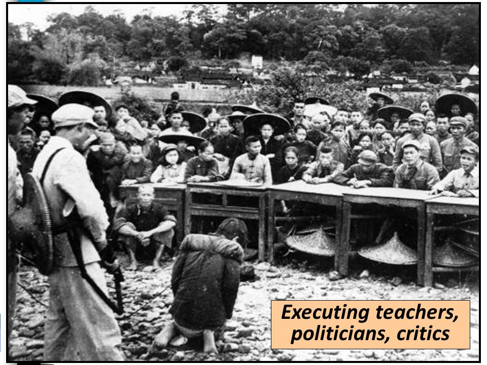 Executing teachers, politicians, critics