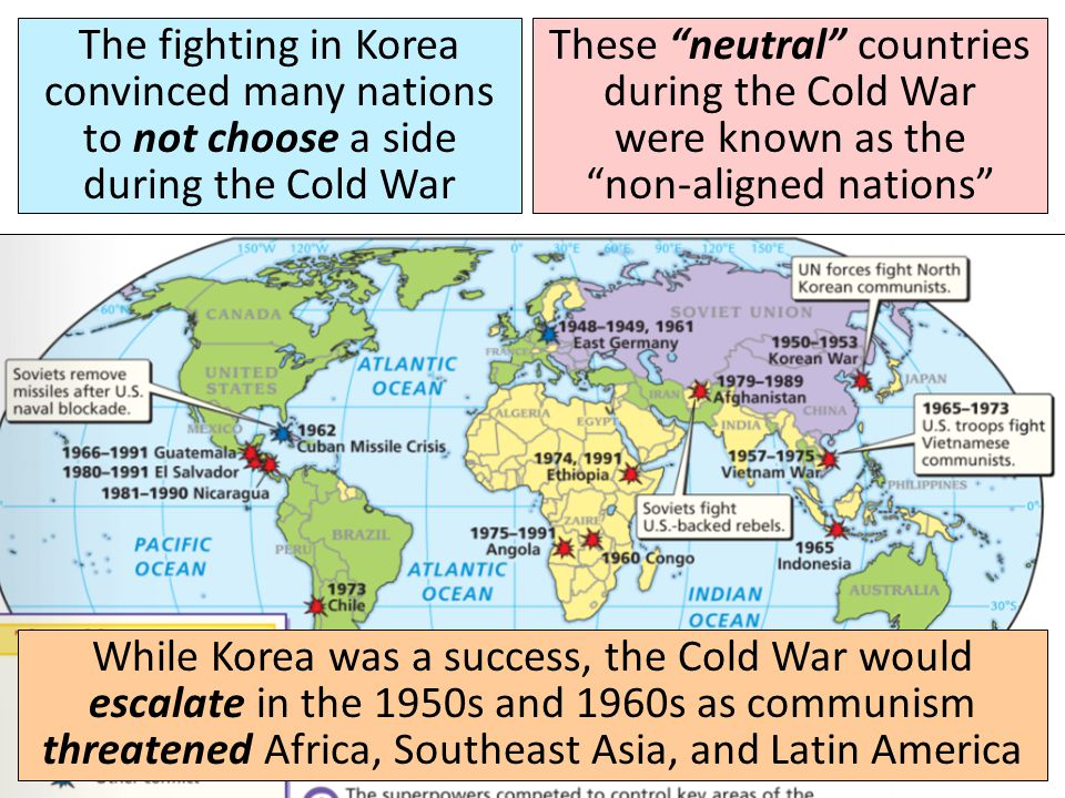 The fighting in Korea convinced many nations to not choose a side during the Cold War