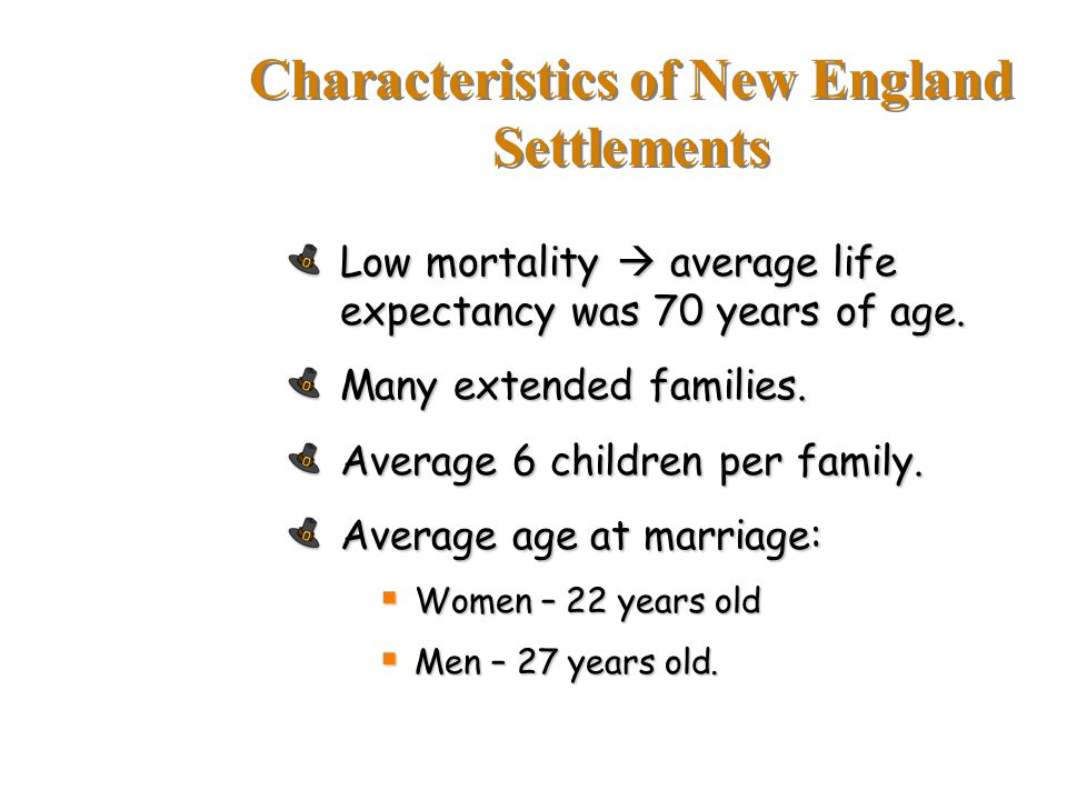 Characteristics of New England Settlements