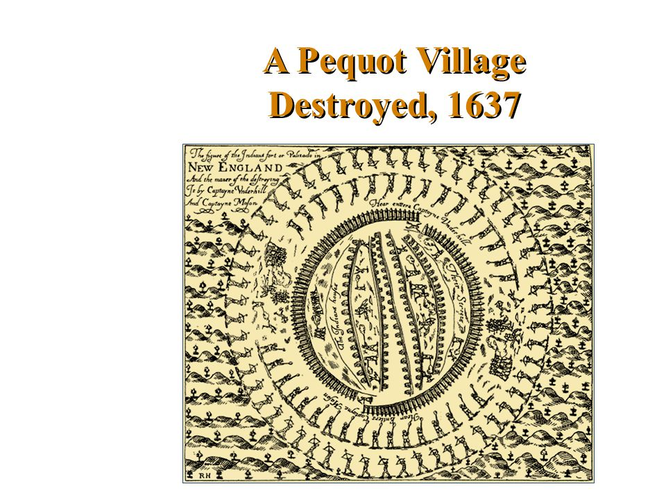 A Pequot Village Destroyed, 1637