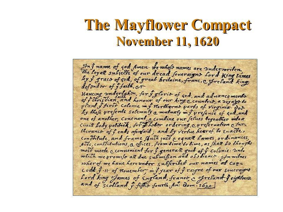 The Mayflower Compact November 11, 1620