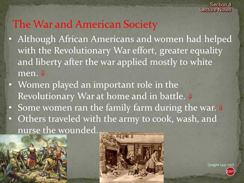 The War and American Society