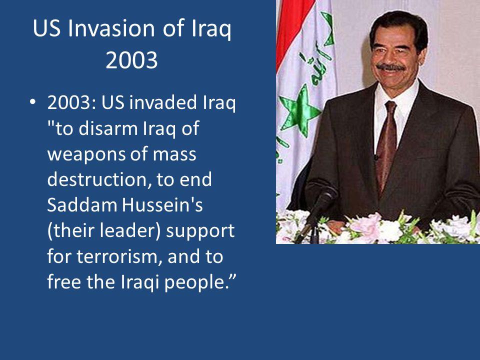 US Invasion of Iraq 2003