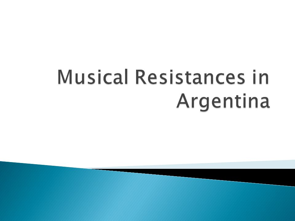 Musical Resistances in Argentina