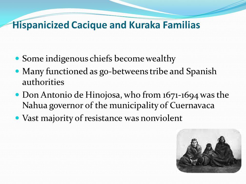 Hispanicized Cacique and Kuraka Familias