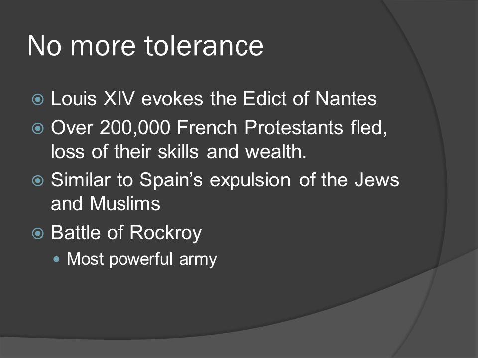 No more tolerance Louis XIV evokes the Edict of Nantes