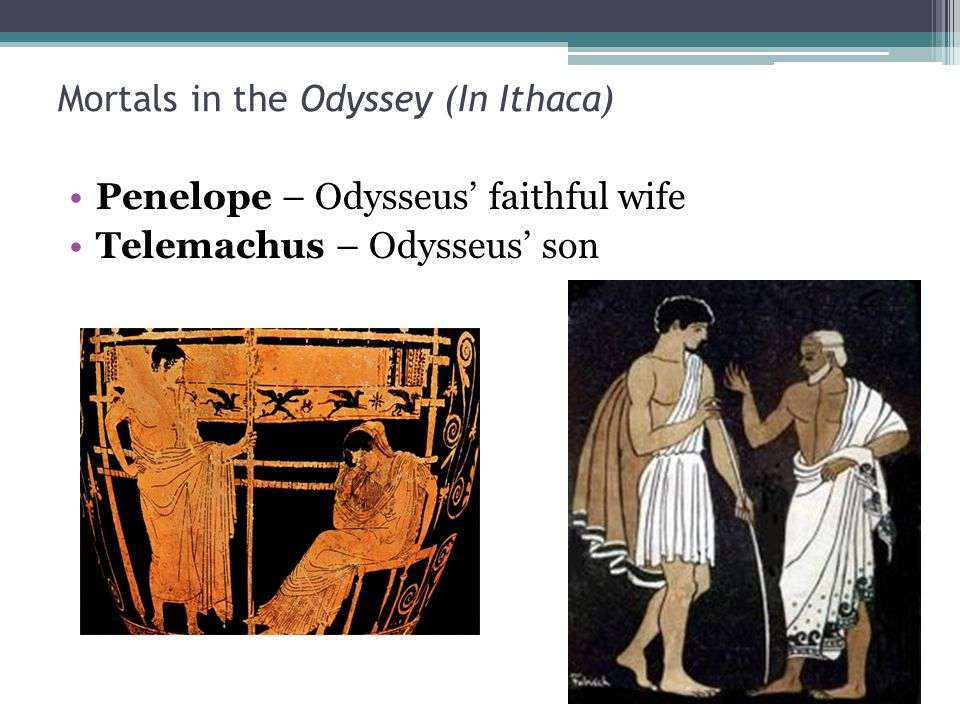 Mortals in the Odyssey (In Ithaca)