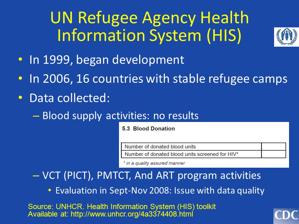 UN Refugee Agency Health Information System (HIS)