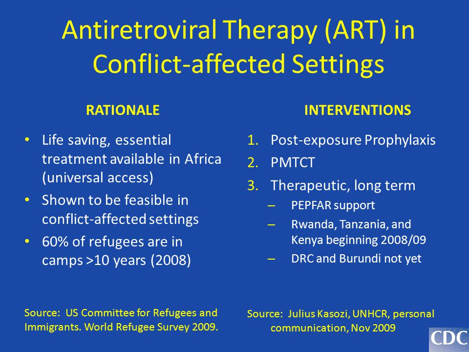 Antiretroviral Therapy (ART) in Conflict-affected Settings