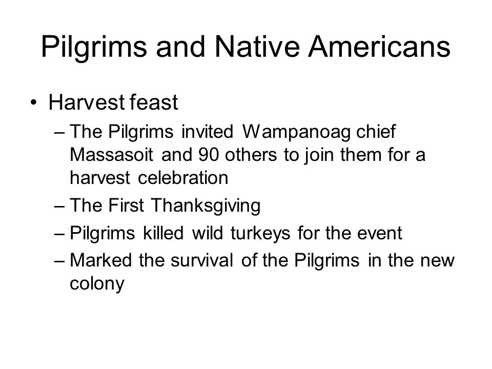 Pilgrims and Native Americans